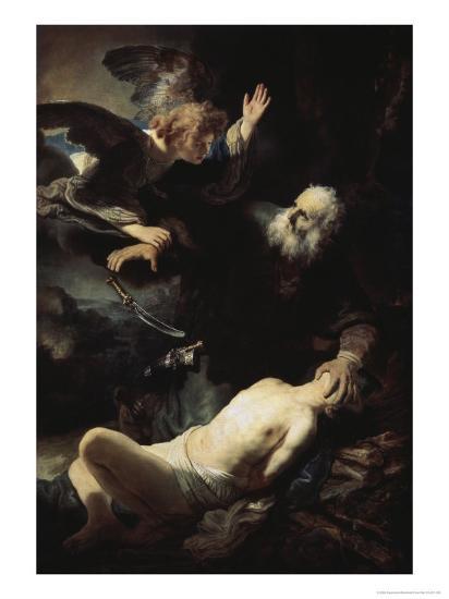 Abraham's Sacrifice-Rembrandt van Rijn-Giclee Print