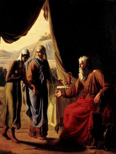 Abraham's Wife, Sarah, Presenting her Handmaid Hagar to her Husband as a Concubine-Andre Jacques Victor Orsel-Giclee Print