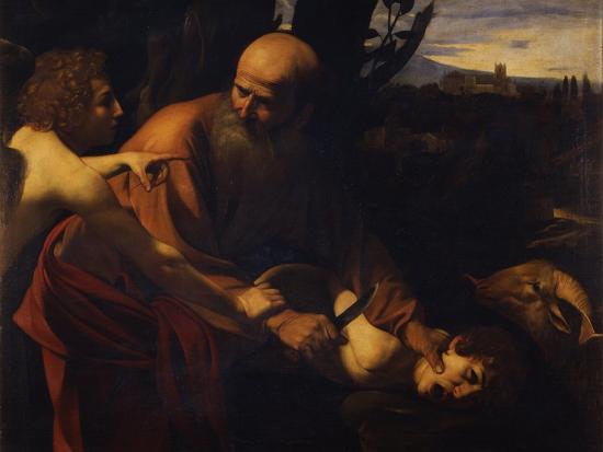 Abraham Sacrificing Isaac, 1603-1604-Caravaggio-Giclee Print