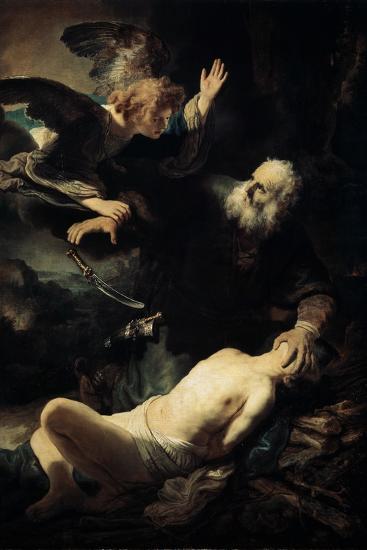 Abraham Sacrificing Isaac, 1635-Rembrandt van Rijn-Giclee Print