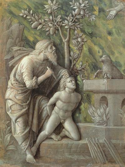 Abraham Sacrificing Isaac, C.1490-95-Andrea Mantegna-Giclee Print