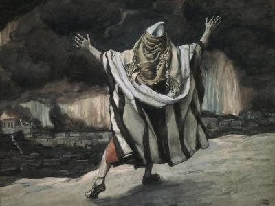 Abraham Sees Sodom in Flames-James Tissot-Giclee Print