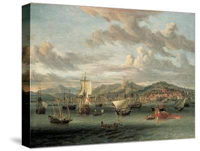 Dutch Shipping Off the Bay of Smyrna with a State Barge