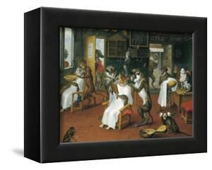 Barber's Shop with Monkeys and Cats by Abraham Teniers