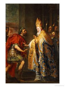 The Emporer Theodosius Before Saint Ambrose by Abraham Van Diepenbeck