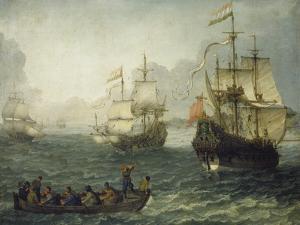 Meereslandschaft Mit Segelschiffen by Abraham Willaerts