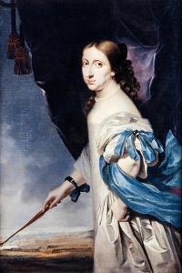 Portrait of Queen Christina of Sweden, 1661 by Abraham Wuchters