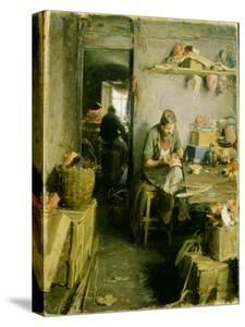 In the Mask Studio, 1897 by Abram Efimovich Arkhipov