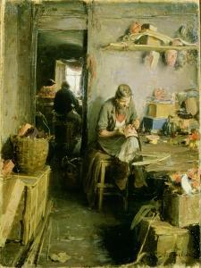 In the Mask Studio, 1897 by Abram Efimovich Arkhipov