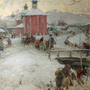 Winter, 1909 by Abram Yefimovich Arkhipov