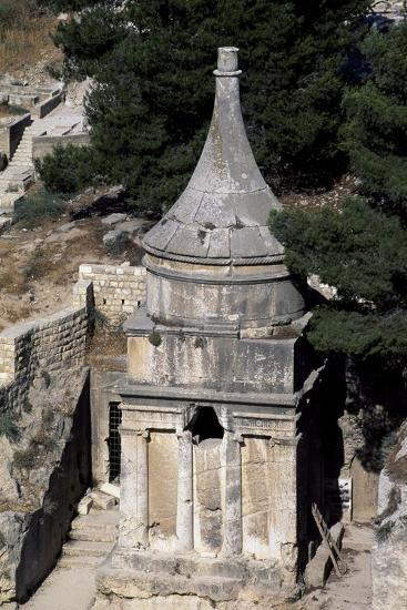 Absalom's Tomb, Kidron or Qidron Valley, Jerusalem, Israel, Jewish Civilization BC--Giclee Print