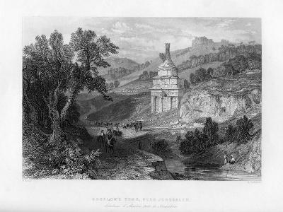 Absalom's Tomb, Near Jerusalem, Israel, 1841-E Redclyffe-Giclee Print