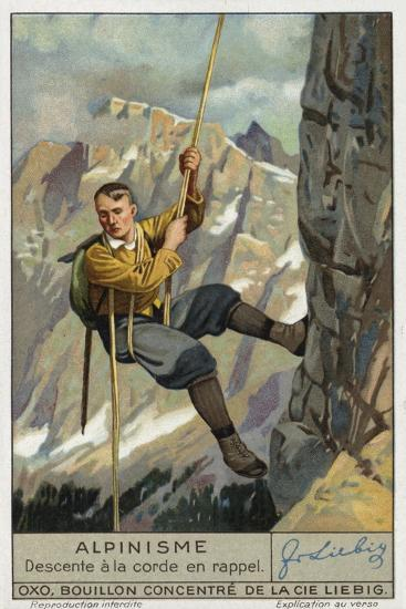 Abseiling on a Rope--Giclee Print