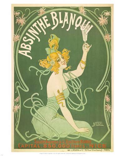 Absinthe Blanqui-Nover-Art Print