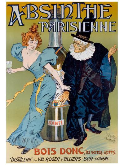 Absinthe Parisienne- Gelis-Didot & Maltese-Giclee Print