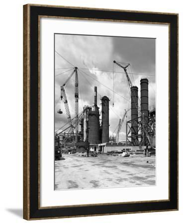 Absorption Towers Being Installed, Coleshill Coal Preparation Plant, Warwickshire, 1962.6th July-Michael Walters-Framed Photographic Print