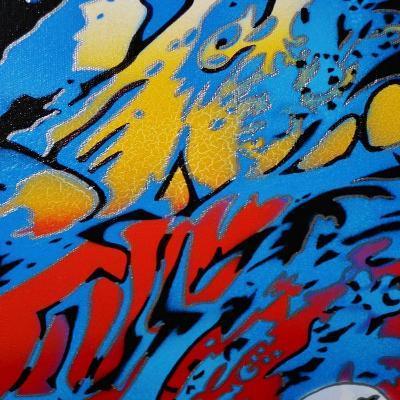 Abstract 1-Abstract Graffiti-Giclee Print
