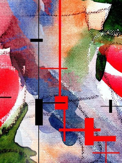 Abstract Art Collage, Mixed Media And Watercolor On Paper-Andriy Zholudyev-Art Print