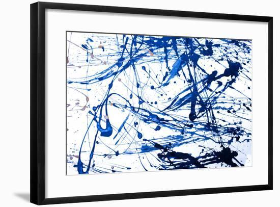 Abstract Art Creative Background. Hand Painted Background.-Nataliya Sdobnikova-Framed Photographic Print