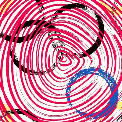 Abstract Background Pattern, with Circles, Strokes and Splashes-Kirsten Hinte-Art Print