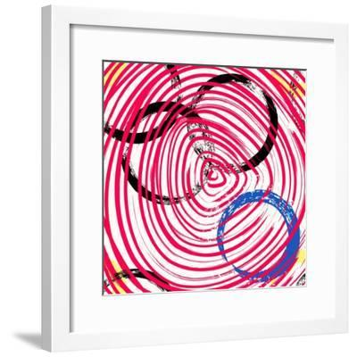 Abstract Background Pattern, with Circles, Strokes and Splashes-Kirsten Hinte-Framed Premium Giclee Print