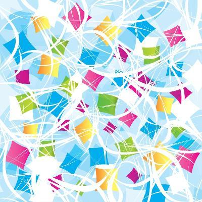 Abstract Background With Geometrical Objects-Blan-k-Art Print