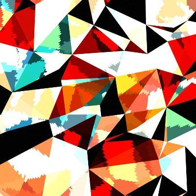 Abstract Background with Triangles and Colorful Geometric Shapes. Texture Pattern for Covers, Banne- Romas_Photo-Art Print