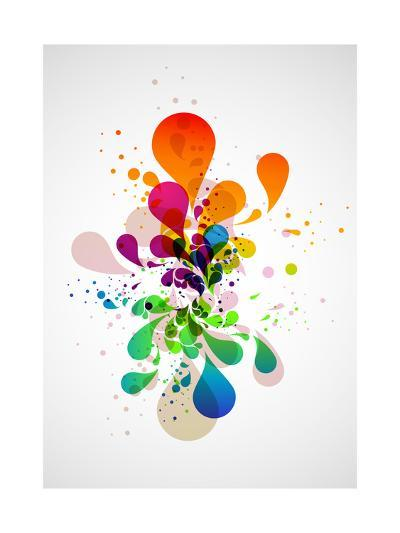 Abstract Background-theromb-Art Print