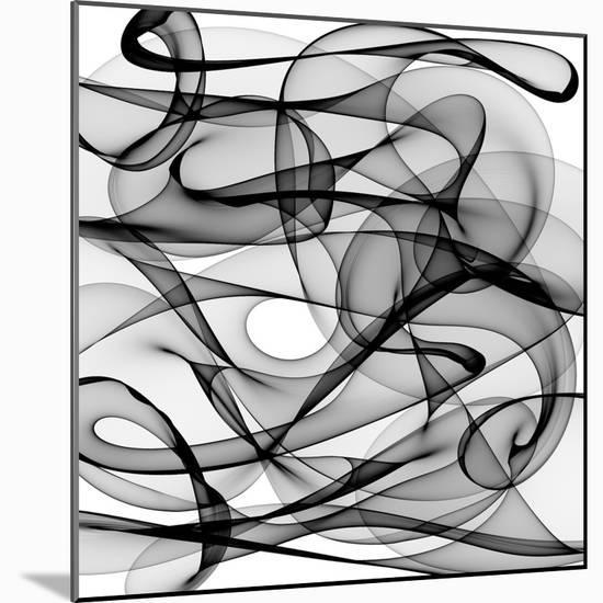 Abstract Black And White Background-alexkar08-Mounted Premium Giclee Print