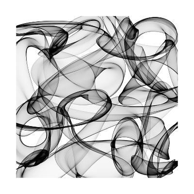 Abstract Black And White Background-alexkar08-Art Print