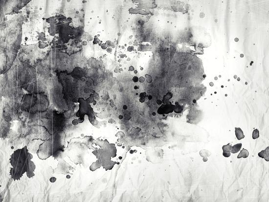 Abstract Black And White Ink Painting On Grunge Paper Texture Art Print By Run4it Art Com