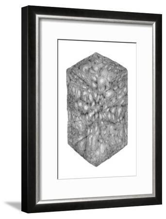 Abstract Black Hexagon Room-Ryuichirou Motomura-Framed Art Print