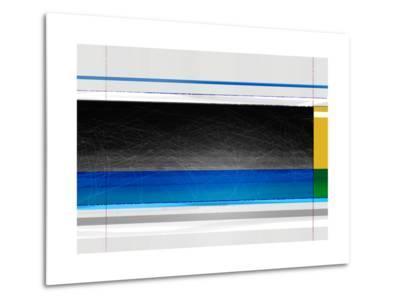 Abstract Blue Black and yellow-NaxArt-Metal Print