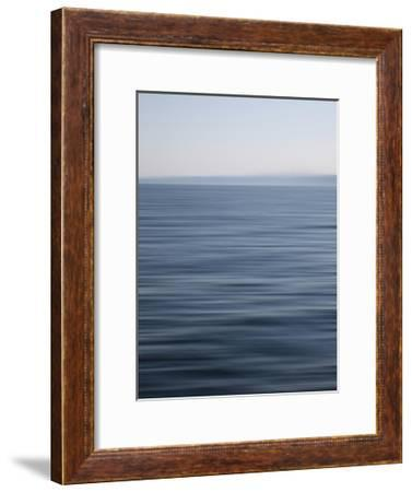 Abstract blue horizon-Savanah Plank-Framed Giclee Print