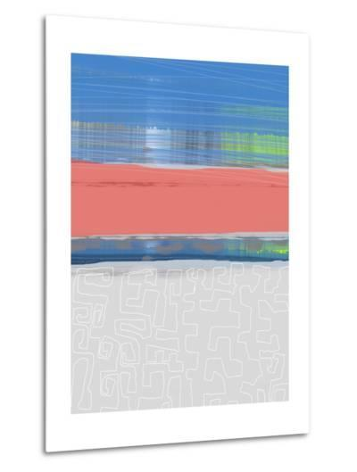 Abstract  Blue View 2-NaxArt-Metal Print