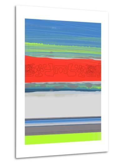 Abstract  Blue View 4-NaxArt-Metal Print