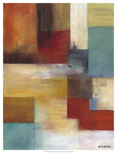 Abstract Blue-W^ Green-Aldridge-Giclee Print