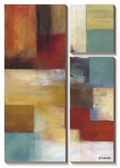 Abstract Blue-W^ Green-Aldridge-Canvas Art Set