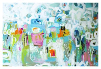 Abstract Blue-Karen  Fields-Art Print