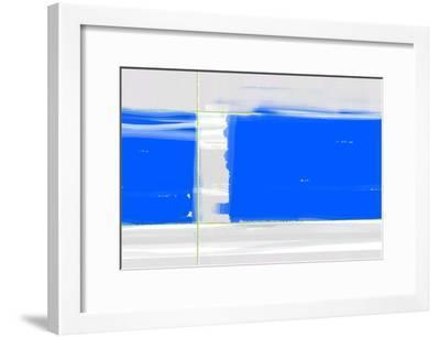 Abstract Blue-NaxArt-Framed Art Print