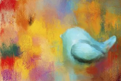 Abstract Bluebird of Happiness-Jai Johnson-Giclee Print