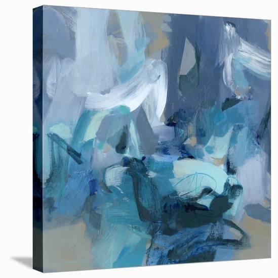 Abstract Blues II-Christina Long-Stretched Canvas Print