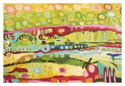 Abstract Bohemian-Karen  Fields-Art Print