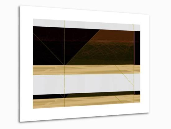 Abstract  Brown and White-NaxArt-Metal Print