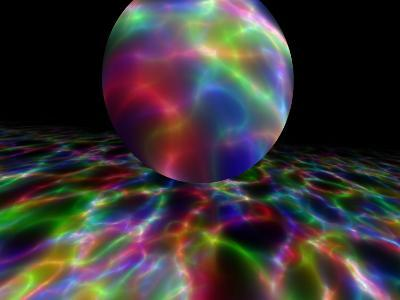 Abstract Bubble Over Multi-Colured Liquid Against Black Background-Albert Klein-Photographic Print