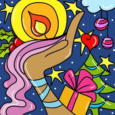 Abstract Christmas-goccedicolore-Art Print