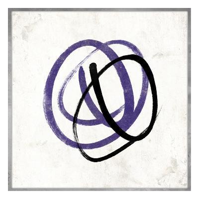 Abstract Circle Mate Purple-Jace Grey-Art Print