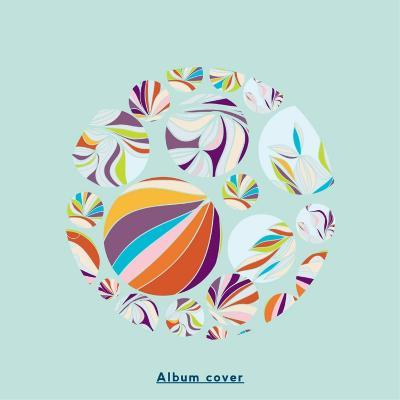 Abstract Circles Background - with Illustrative Design Elements-run4it-Art Print