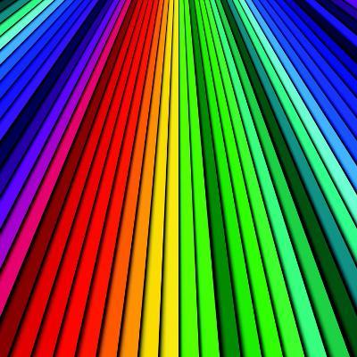 Abstract Color Background Spectrum Lines-Lukas Kurka-Art Print