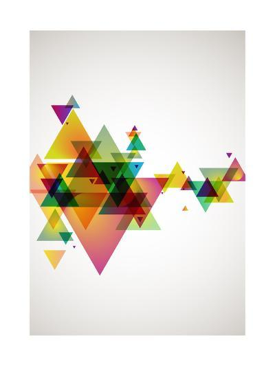 Abstract Colored Background.-theromb-Art Print